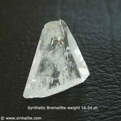 Synthetic bromellite crystal weight 16.54 ct.